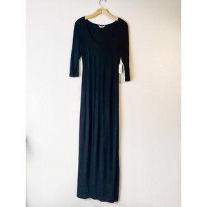 NWT Charming Charlie Black Maxi Dress